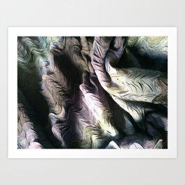 Pleat Scallop Art Print