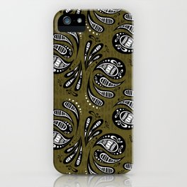 Exotic Tribal Green iPhone Case