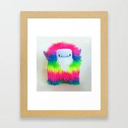 Biff the Rainbow Monster Framed Art Print
