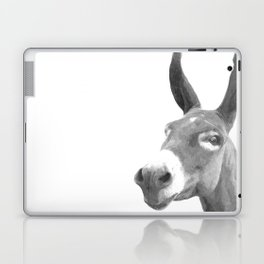 Black and white donkey Laptop & iPad Skin
