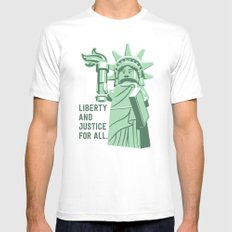 Liberty and Justice Mens Fitted Tee MEDIUM White