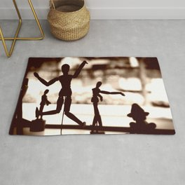 Wooden Puppet Sepia Rug