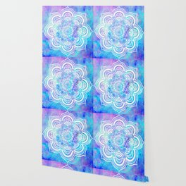 Mandala Pink Lavender Aqua Galaxy Space Wallpaper
