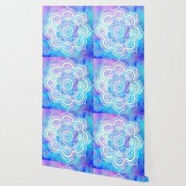 Mandala Pink Lavender Aqua Galaxy Space Wallpaper