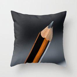 Pencil macro closeup Throw Pillow
