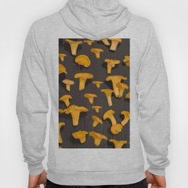 Chantterelles On A Dark Grey Background - Autumn Harvest - #Society6 #buyart Hoody