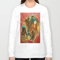 racing Long Sleeve T-shirts featuring Racing Collage by Connie Campbell