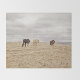 Travel Landscape Photograph, Iceland Throw Blanket