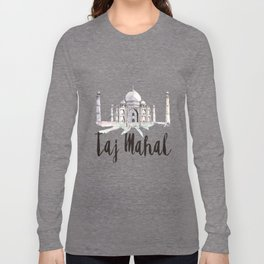Taj Mahal watercolor Long Sleeve T-shirt