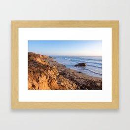 Cliffs at sunset Framed Art Print