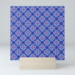 The Melting Snowflake Abstract Seamless Pattern Mini Art Print