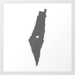 Palestine Map Art Print