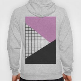 Geometry: black, pink and squres Hoody