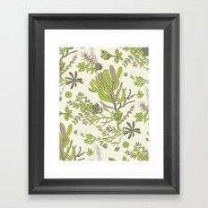 Cream Cradle Flora Framed Art Print