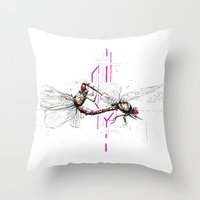lovers Throw Pillows featuring Lovers by Subcon