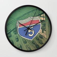 Road Wall Clock