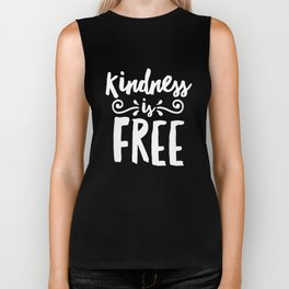 Kindness Is FREE - Anti-Bullying Stop Bullies Biker Tank