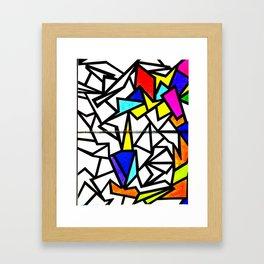 Mosaic burd Framed Art Print