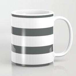 Dark Grey Stripes on White Background Coffee Mug