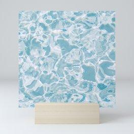 Sea waves pattern Mini Art Print