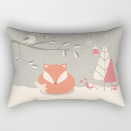 Christmas baby fox 06 Rectangular Pillow