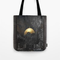 palestine Tote Bags featuring Dome of the Rock by dominiquelandau