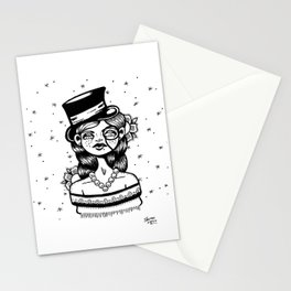 Top Hat Girl Stationery Cards