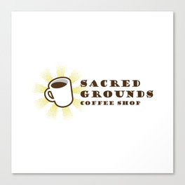 Sacred Grounds Coffee Shop Canvas Print
