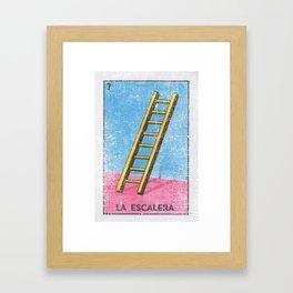 La Escalera Mexican Loteria Bingo Card Framed Art Print
