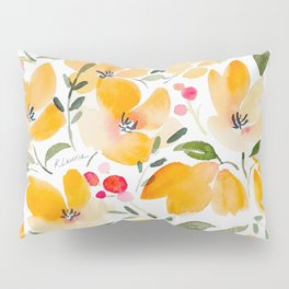 Yellow and Orange Floral Pillow Sham
