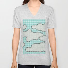 Paint by Number Clouds  Unisex V-Neck