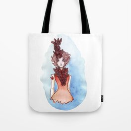 Chins up, smiles on  Tote Bag