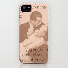 Blow a whistle iPhone Case