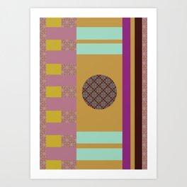 Mix n Match with Circle 2 Art Print