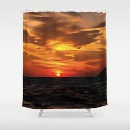 Burned Horizons Shower Curtain