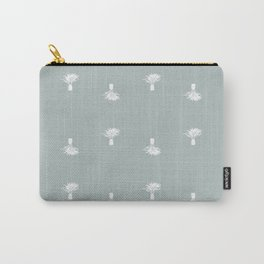 Small palm trees on gray Carry-All Pouch