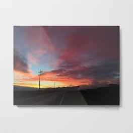 A Beautiful Day for a Launch Metal Print