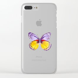 Shady Lavender Clear iPhone Case
