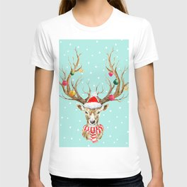 Christmas Deer 4 T-shirt