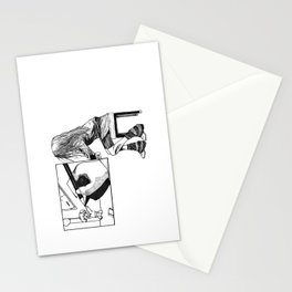 Drawing a picture Stationery Cards