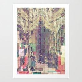 Mountain//Glitch Art Print
