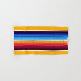 Traditional Mexican Serape in Yellow Multi Hand & Bath Towel