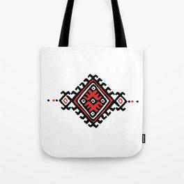ethnic motif black&red Tote Bag
