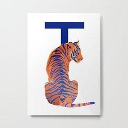 T - Tiger Metal Print