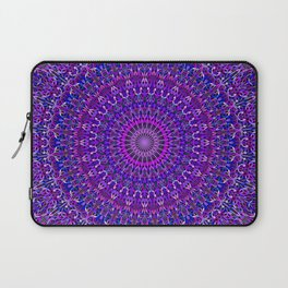 Lace Mandala in Purple and Blue Laptop Sleeve