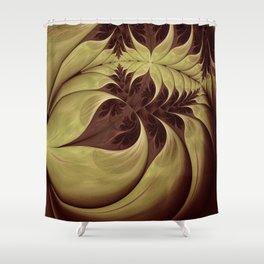 Dead Leaf Sings Shower Curtain