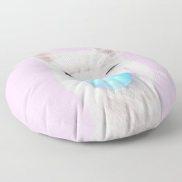BUBBLE GUM LLAMA Floor Pillow