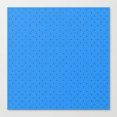 Small dots on blue  Canvas Print