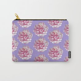 Dahlias pattern on purple Carry-All Pouch