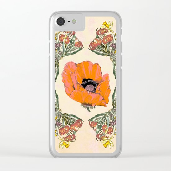 The Universal language of flowers Clear iPhone Case